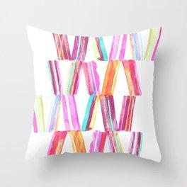 Ice Cream Stripe Throw Pillow
