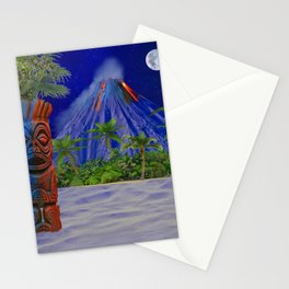 Tiki Art Background Stationery Cards