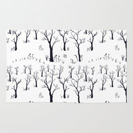 Winter Bare Trees Rug