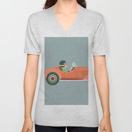 drive in style Unisex V-Neck