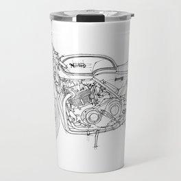 NORTON COMMANDO 961 CAFE RACER 2011, original artwork Travel Mug