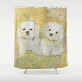 Managing Multiple Maltese Shower Curtain