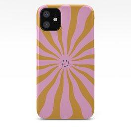 Cute Retro Sun Face  iPhone Case
