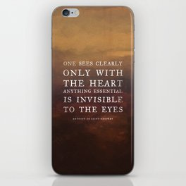 I. Anything essential is invisible to the eyes. iPhone Skin