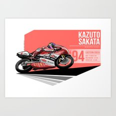 Kazuto Sakata - 1994 Eastern Creek Art Print