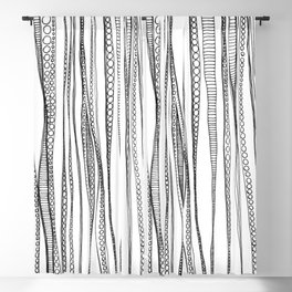 Rippled Water Graphic Pattern Blackout Curtain