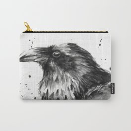Raven Watercolor Bird Animal Carry-All Pouch