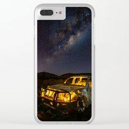 Burnt Truck Under Australian Milky Way Clear iPhone Case