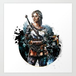 Ciri 2 - The Witcher Wild Hunt  Art Print