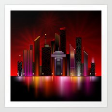 City Nights 1 Art Print