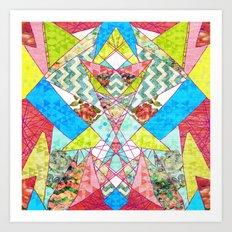 Geometric Quilt Art Print