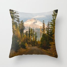 Autumn Mount Hood Scene Throw Pillow