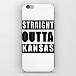 Straight Outta Kansas iPhone Skin