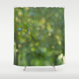 green light Shower Curtain