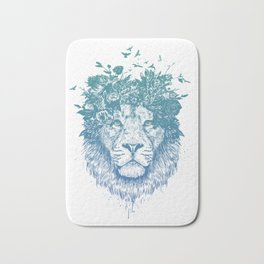 Floral lion Bath Mat