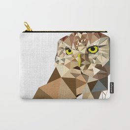 Geometric owl art Bird artwork Woodland birds Carry-All Pouch