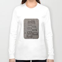 calendar Long Sleeve T-shirts featuring Calendar Walk by Ethna Gillespie