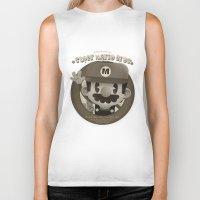 mario bros Biker Tanks featuring Mario Bros Fan Art by danvinci
