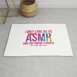 I Only Care About ASMR And Like Maybe 3 People Brain Whisper Rug