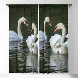 SWANS IN LOVE Blackout Curtain
