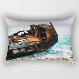 Rustic Shipwreck Rectangular Pillow