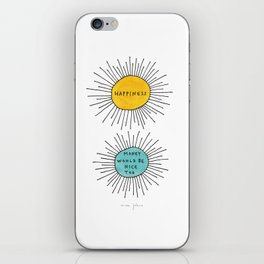 Happiness / Money would be nice too iPhone Skin