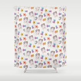 Mermaid Pattern Shower Curtain