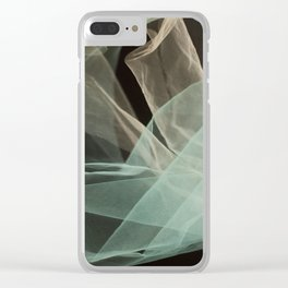 Abstract veil background Clear iPhone Case