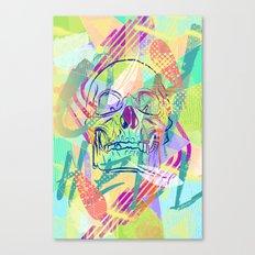Oh Hell Sherbert Skull Canvas Print