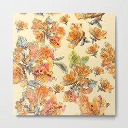 Orange azalia flowers Metal Print