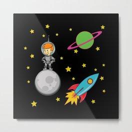 Astro Kid, Space Explorer Metal Print