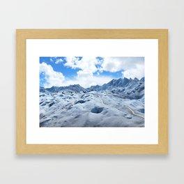 Glacier Hike Framed Art Print