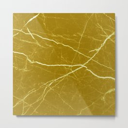 Gold marble abstract texture pattern Metal Print