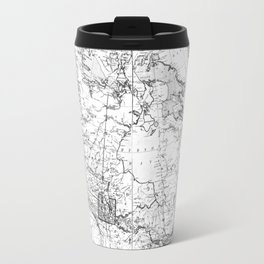 Vintage Map of Canada (1898) BW Travel Mug
