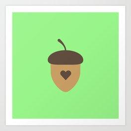 Acorn with heart T-Shirt for Women, Men and Kids Art Print