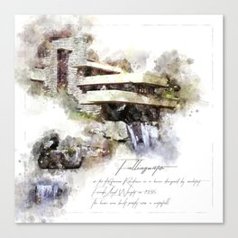 Falingwater Watercolor Canvas Print