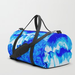 Fluid Abstract 32; Crashing Waves Duffle Bag