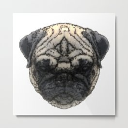 Pug-K Metal Print