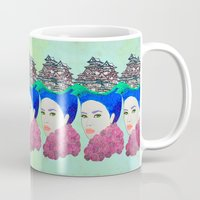 japan Mugs featuring Japan by Luna Portnoi