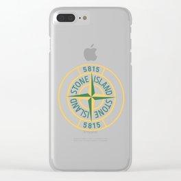 stone island logo Clear iPhone Case