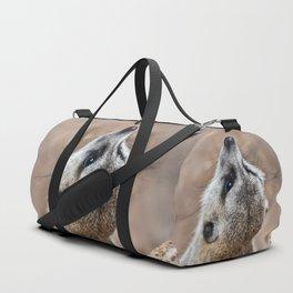 Meerkat looking for eagles Duffle Bag