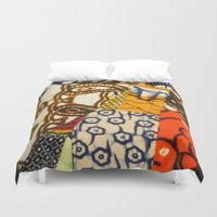 afro Duvet Covers featuring AFRO PATCHWORK by Riot Clothing