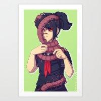 Scolopendra scarf Art Print