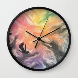 colourful sky dive Wall Clock