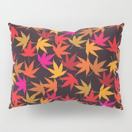Fall leaves colorful pattern Pillow Sham