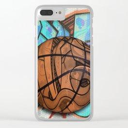 Basketball Graffiti Team Sports Design Clear iPhone Case