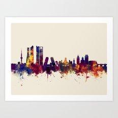 Madrid Spain Skyline Art Print