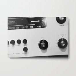 Stereo Sounds Metal Print