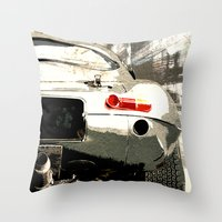 1975 Throw Pillows featuring Jaguar E-TYpe by Fernando Vieira