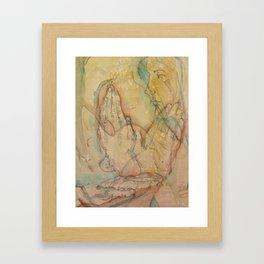 Three Hands Framed Art Print